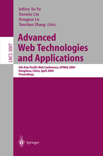 Advanced Web Technologies and Applications als Buch