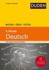 Wissen - Üben - Testen: Deutsch 9. Klasse
