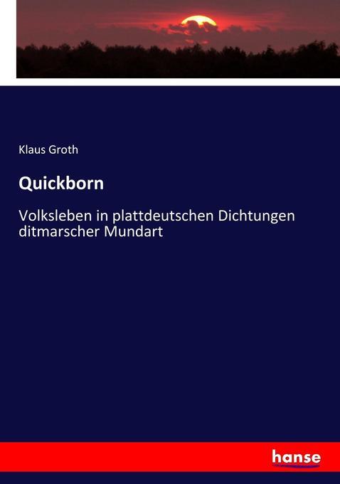 Quickborn als Buch (kartoniert)