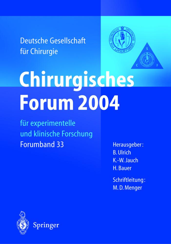 Chirurgisches Forum 2004 als Buch