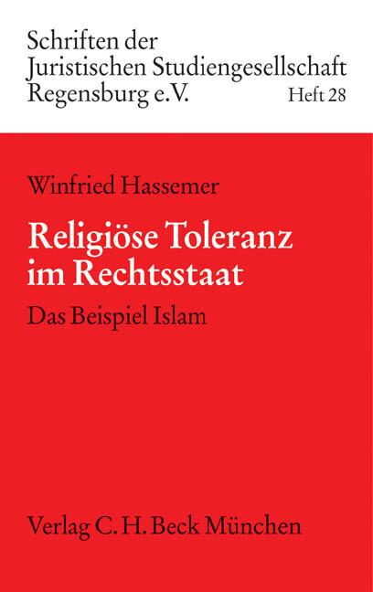 Religiöse Toleranz im Rechtsstaat als Buch