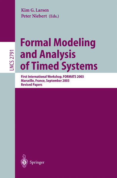 Formal Modeling and Analysis of Timed Systems als Buch