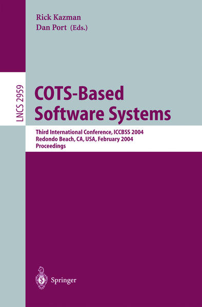 COTS-Based Software Systems als Buch