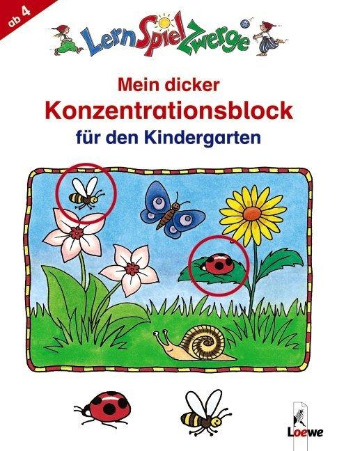 Mein dicker Konzentrationsblock für den Kindergarten als Buch