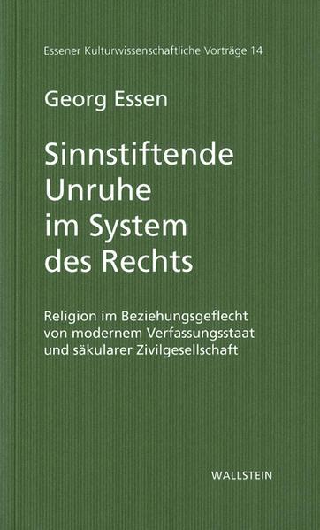 Sinnstiftende Unruhe im System des Rechts als Buch
