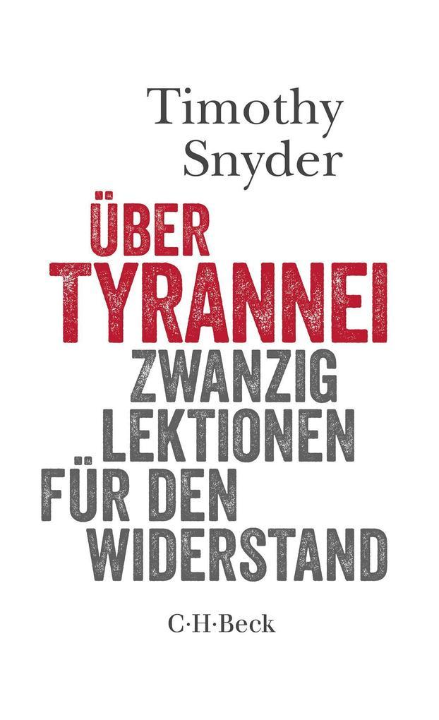 Über Tyrannei als Buch