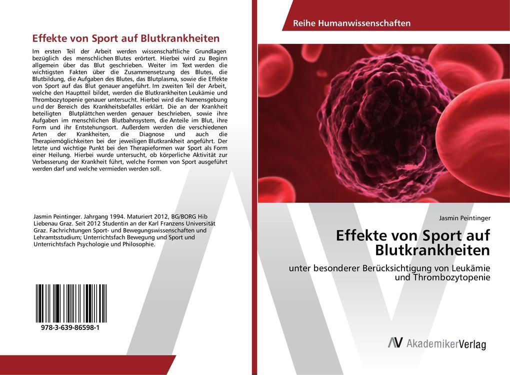 Effekte von Sport auf Blutkrankheiten als Buch ...