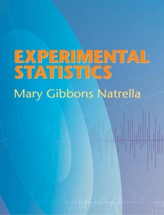 Experimental Statistics als Taschenbuch