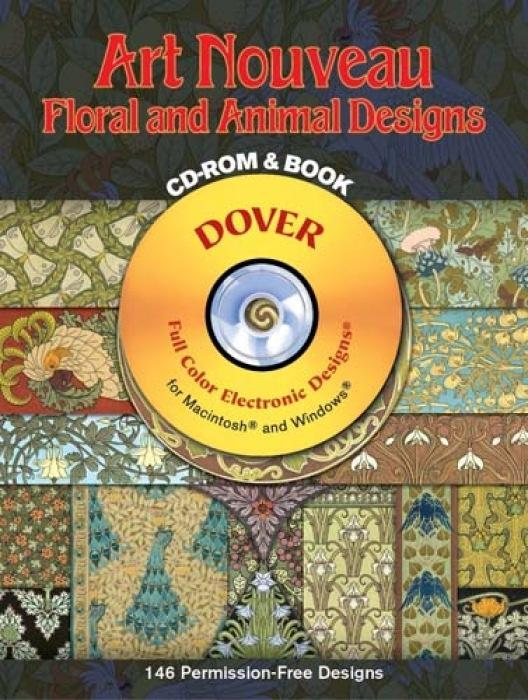 Art Nouveau Floral and Animal Designs [With CD-ROM] als Taschenbuch