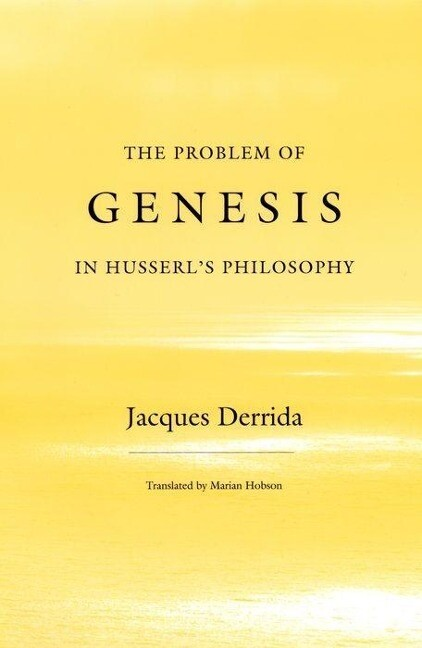 The Problem of Genesis in Husserl's Philosophy als Buch