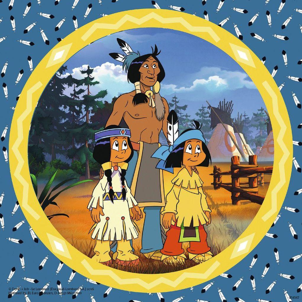 Puzzles & Geduldspiele der tapfere Indianer 3 x 49 Teile Puzzle Spiel Deutsch 2017 Yakari