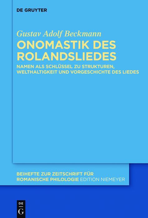 Onomastik des Rolandsliedes als eBook