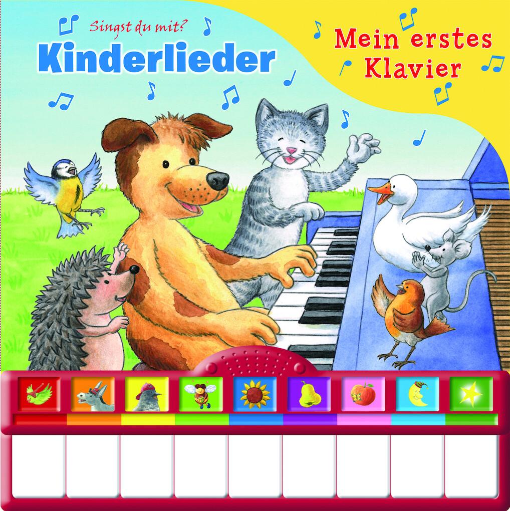 Mein erstes Klavier - Kinderlieder. Kinderbuch mit Klaviertastatur als Buch