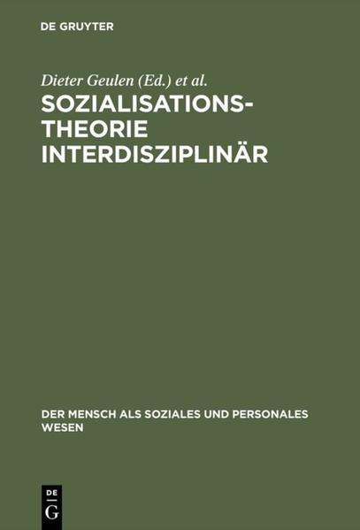 Sozialisationstheorie interdisziplinär als Buch