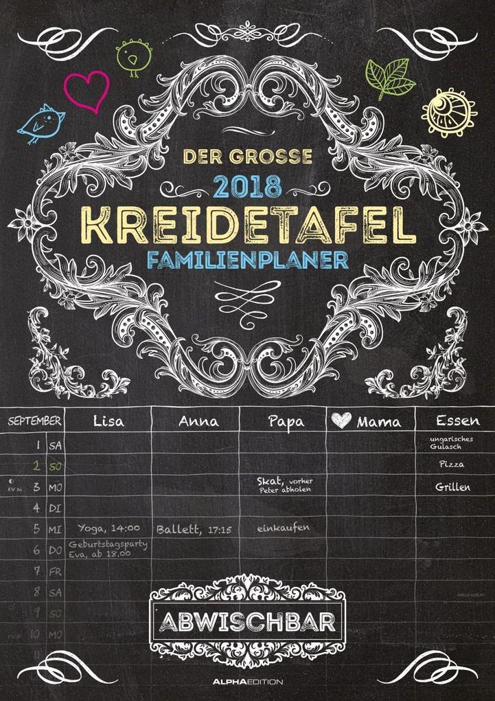 Der große Kreidetafel-Familienplaner 2018 als Kalender