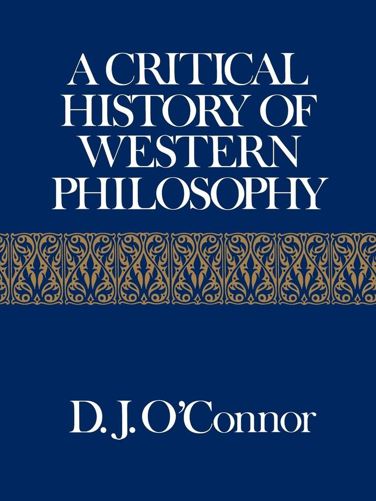 A Critical History of Western Philosophy als Taschenbuch