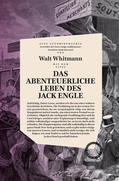 Das abenteuerliche Leben des Jack Engle als Buch von Walt Whitman