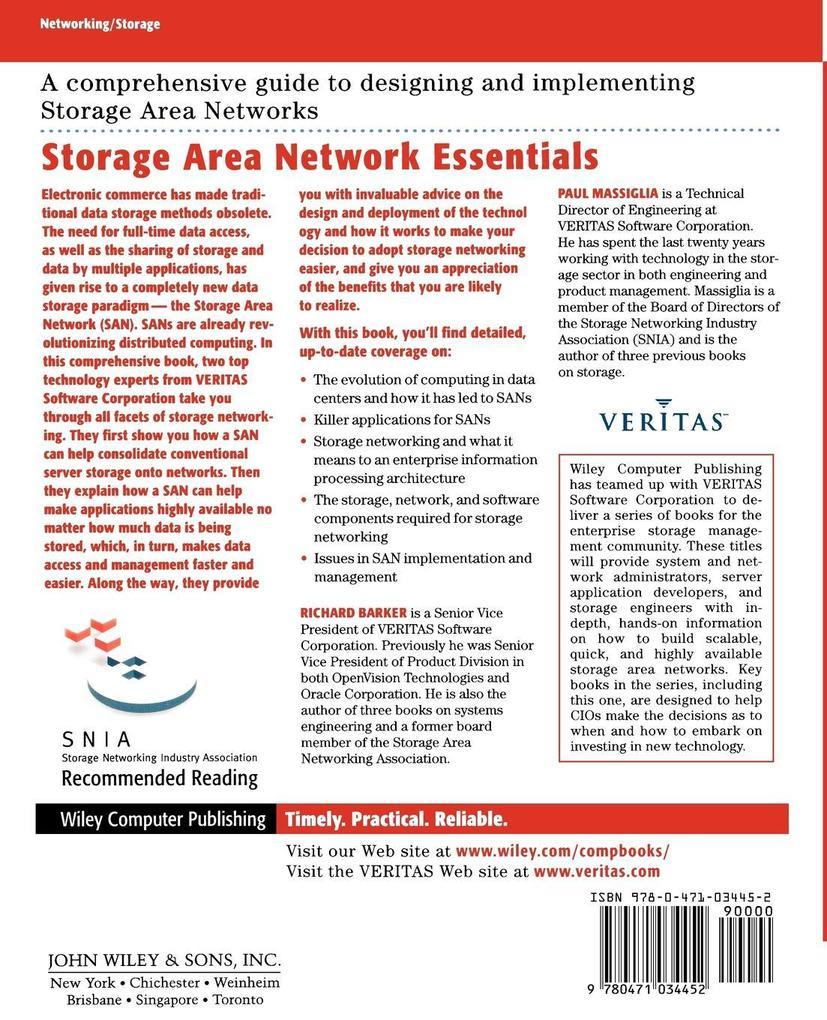 Storage Networking Essentials als Buch