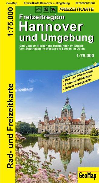 Hannover und Umgebung Rad- und Freizeitkarte 1 : 75 000 als Buch