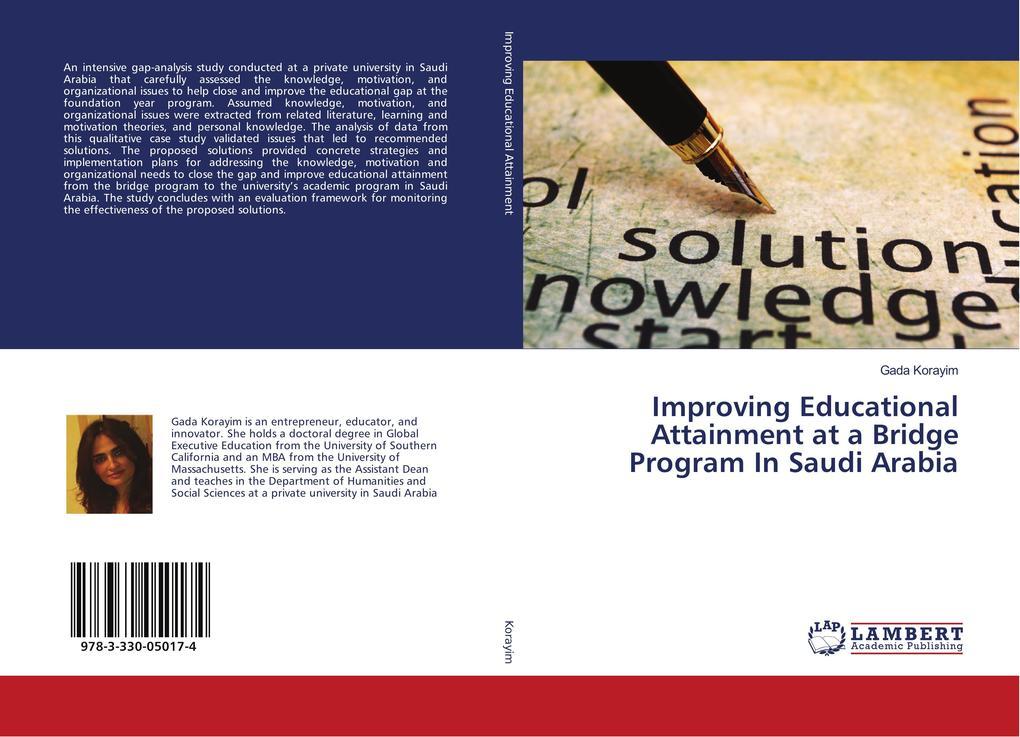 Improving Educational Attainment at a Bridge Program In Saudi Arabia als Buch von Gada Korayim