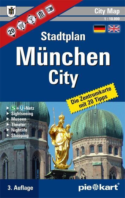 München City 1 : 10.000 Stadtplan als Buch