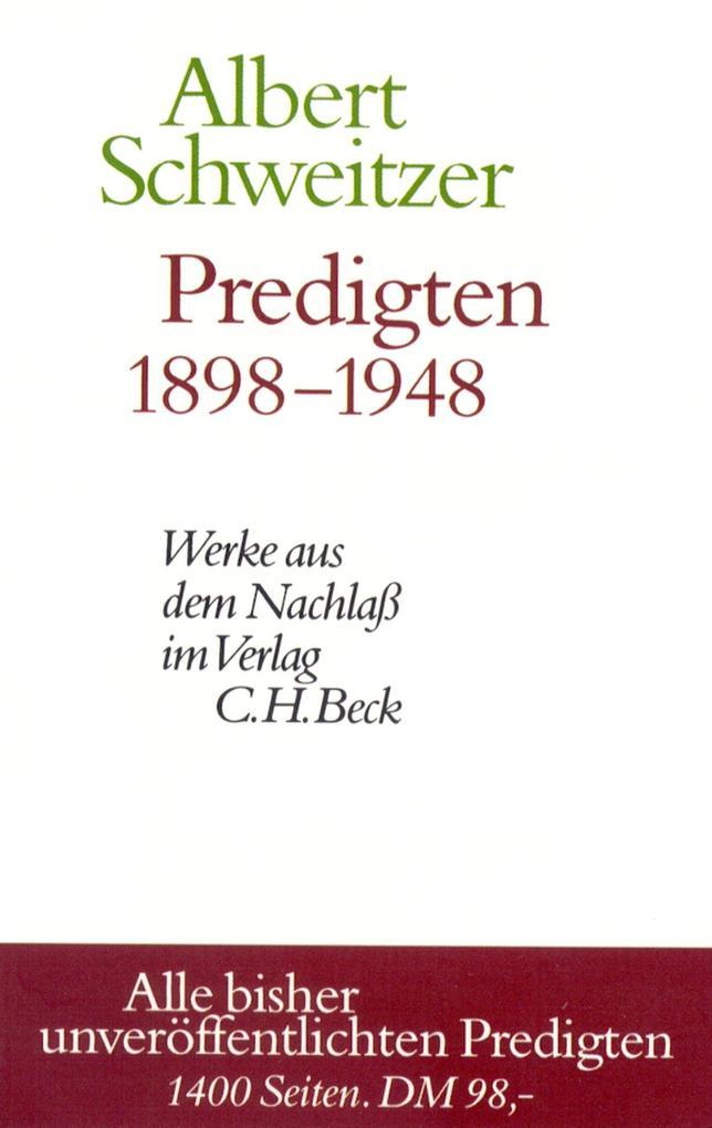 Predigten 1898-1948 als eBook