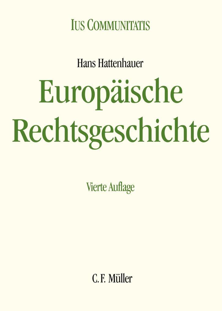 Europäische Rechtsgeschichte als Buch