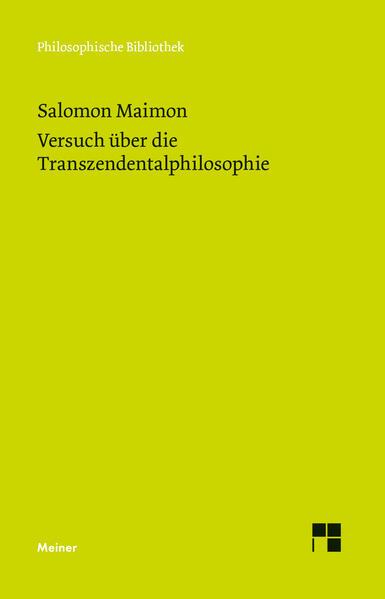 Versuch über die Transzendentalphilosophie als Buch (gebunden)