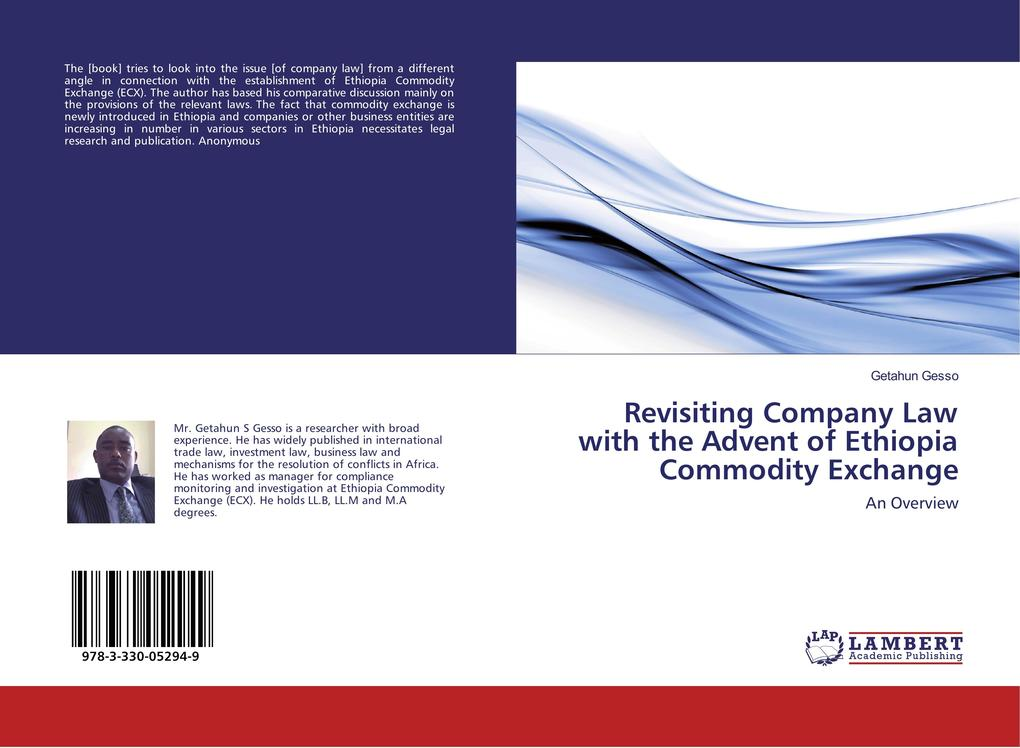 Revisiting Company Law with the Advent of Ethiopia Commodity Exchange als Buch von Getahun Gesso