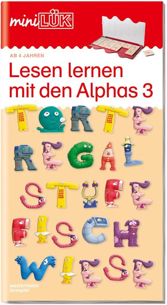 miniLÜK - Lesen lernen mit den Alphas 3