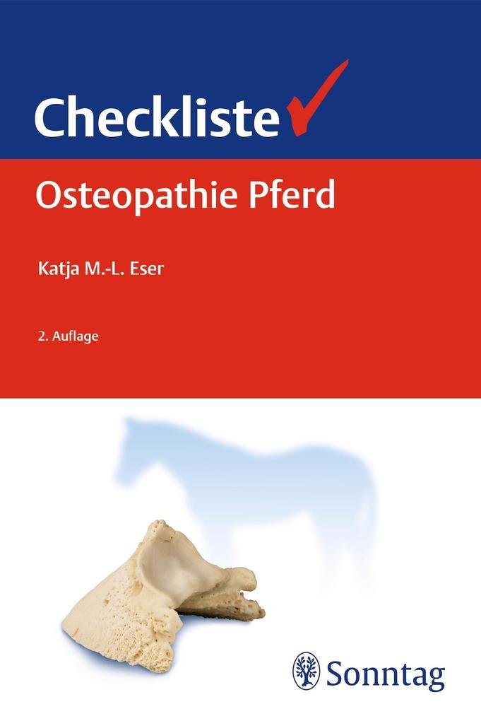 Checkliste Osteopathie Pferd als Buch