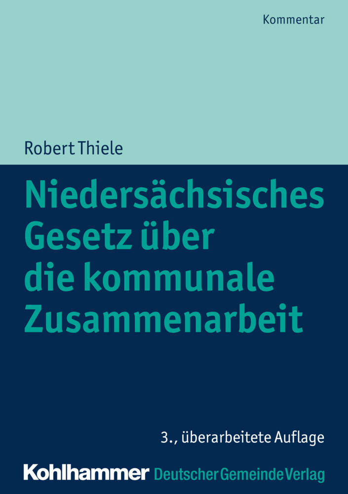 Niedersächsisches Gesetz über die kommunale Zusammenarbeit als Buch