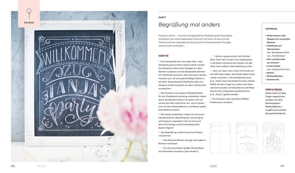 Handlettering Alphabete (Buch), Tanja Cappell