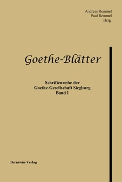 Goethe-Blätter als Buch (kartoniert)