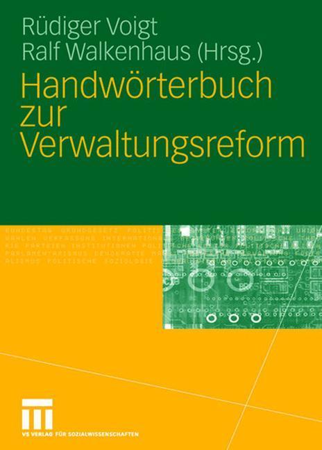 Handwörterbuch zur Verwaltungsreform als Buch (gebunden)