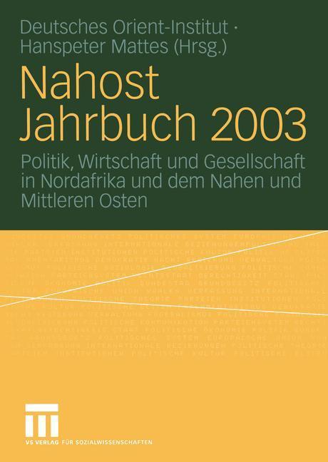Nahost Jahrbuch 2003 als Buch (kartoniert)