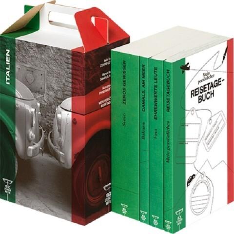 SZ Literaturkoffer Italien. 4 Bände als Buch