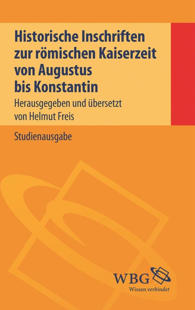 Historische Inschriften zur römischen Kaiserzeit als eBook