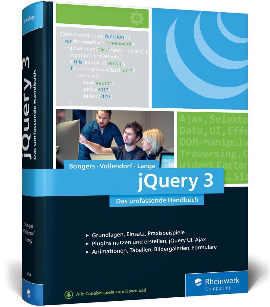 jQuery 3 als Buch von Frank Bongers, Maximilian...