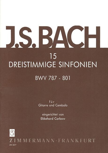 15 dreistimmige Sinfonien BWV 787-801
