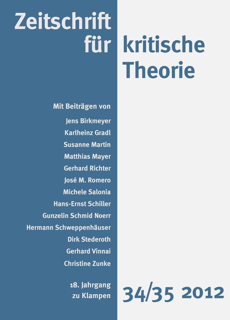 Zeitschrift für kritische Theorie / Zeitschrift für kritische Theorie, Heft 34/35 als eBook pdf