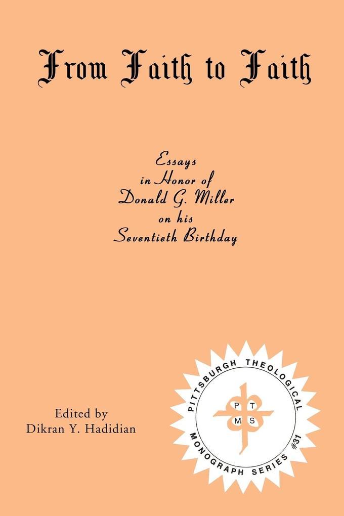 From Faith to Faith als Taschenbuch