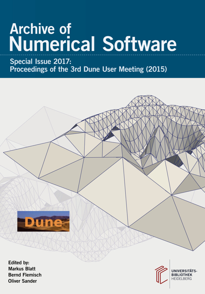 Archive of Numerical Software / Proceedings of the 3rd Dune User Meeting (2015) als Buch
