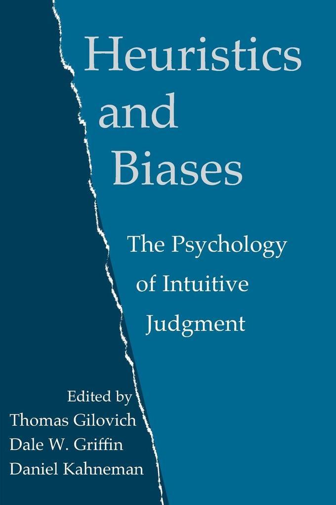 Heuristics and Biases als Buch (kartoniert)