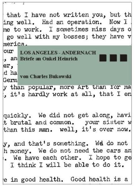 Los Angeles - Andernach als Buch von Charles Bukowski