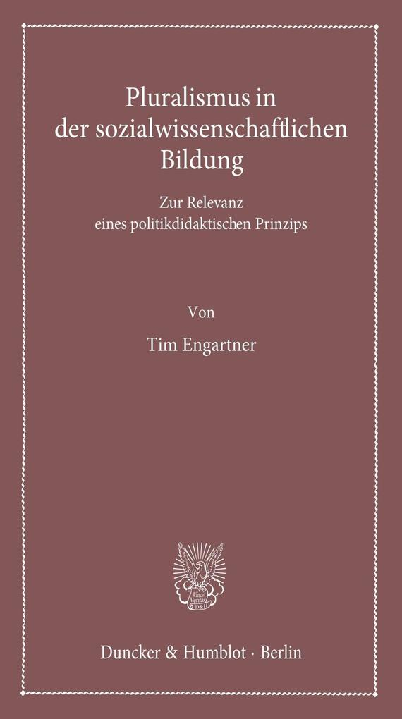 Pluralismus in der sozialwissenschaftlichen Bildung. als eBook