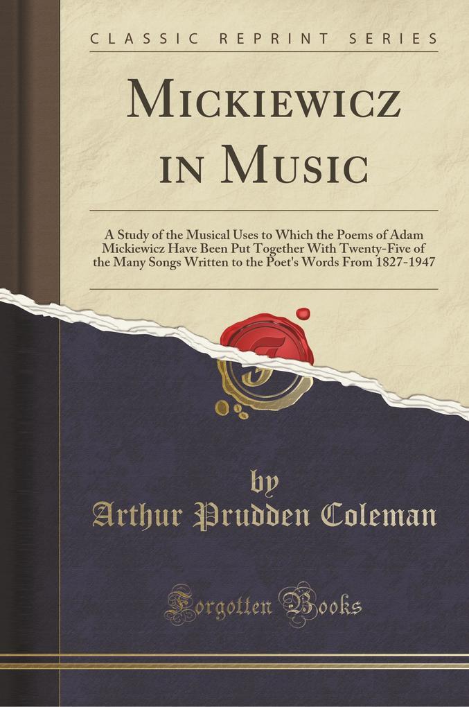 Mickiewicz in Music