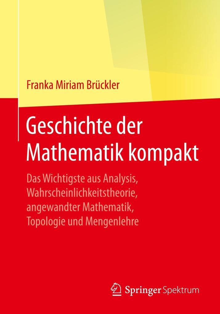 Geschichte der Mathematik kompakt als Buch