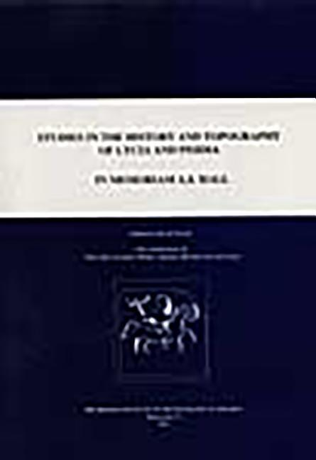 Studies in the History and Topography of Lycia in Memoriam A. S. Hall als Buch (gebunden)