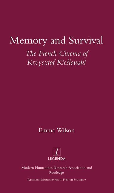 Memory and Survival the French Cinema of Krzysztof Kieslowski als Taschenbuch